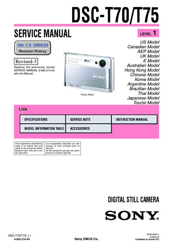 sony dsc t70 dsc t75 serv man2 service manual free download rh servicemanuals us sony dsc t70 manual pdf sony cyber-shot dsc-t70 instruction manual