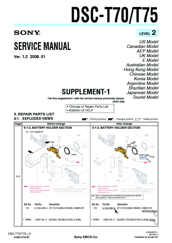sony dsc t70 dsc t75 serv man4 service manual free download rh servicemanuals us