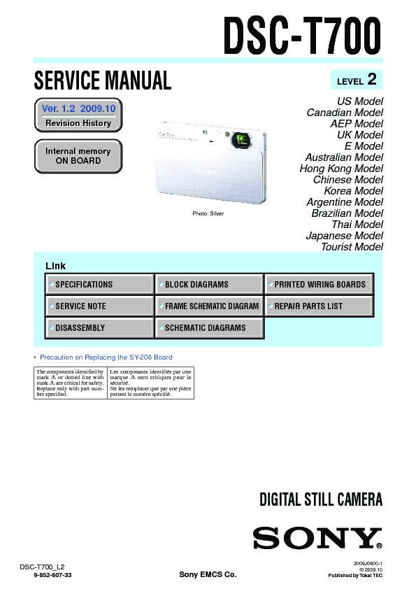 sony dsc t70 dsc t70hdpr dsc t75 service manual free download rh servicemanuals us sony super steady shot dsc-t70 manual sony cybershot camera dsc-t70 manual
