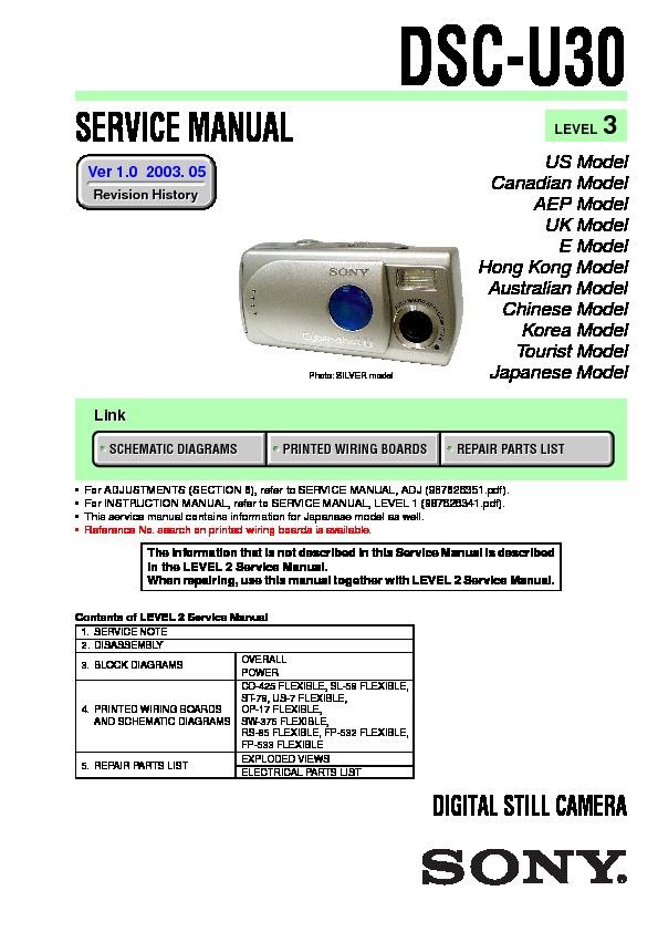 Sony Dsc-u30 Service Manual