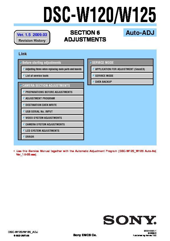 sony dsc w120 dsc w125 serv man3 service manual free download rh servicemanuals us Manual Sony DSC DSC PK5501 Manual
