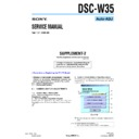 Sony DSC-W35 (serv.man10) Service Manual