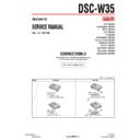 Sony DSC-W35 (serv.man12) Service Manual