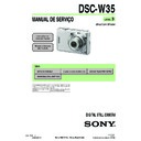 Sony DSC-W35 (serv.man13) Service Manual