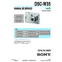 Sony DSC-W35 (serv.man14) Service Manual