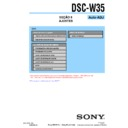 Sony DSC-W35 (serv.man15) Service Manual