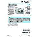 Sony DSC-W35 (serv.man2) Service Manual
