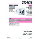 Sony DSC-W35 (serv.man3) Service Manual