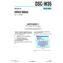 Sony DSC-W35 (serv.man5) Service Manual