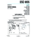 Sony DSC-W35 (serv.man7) Service Manual