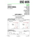 Sony DSC-W35 (serv.man8) Service Manual