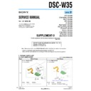 Sony DSC-W35 (serv.man9) Service Manual