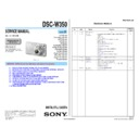 Sony DSC-W350 (serv.man2) Service Manual