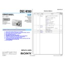 Sony DSC-W360, DSC-W560 (serv.man2) Service Manual