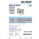Sony DSC-W5, DSC-W7 (serv.man2) Service Manual