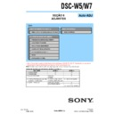 Sony DSC-W5, DSC-W7 (serv.man3) Service Manual