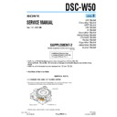 Sony DSC-W50 (serv.man10) Service Manual