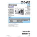 Sony DSC-W50 (serv.man2) Service Manual