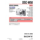 Sony DSC-W50 (serv.man3) Service Manual