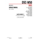Sony DSC-W50 (serv.man5) Service Manual