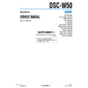 Sony DSC-W50 (serv.man6) Service Manual
