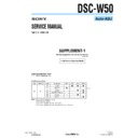 Sony DSC-W50 (serv.man8) Service Manual