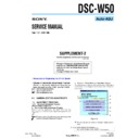 Sony DSC-W50 (serv.man9) Service Manual