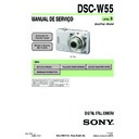 Sony DSC-W55 (serv.man13) Service Manual