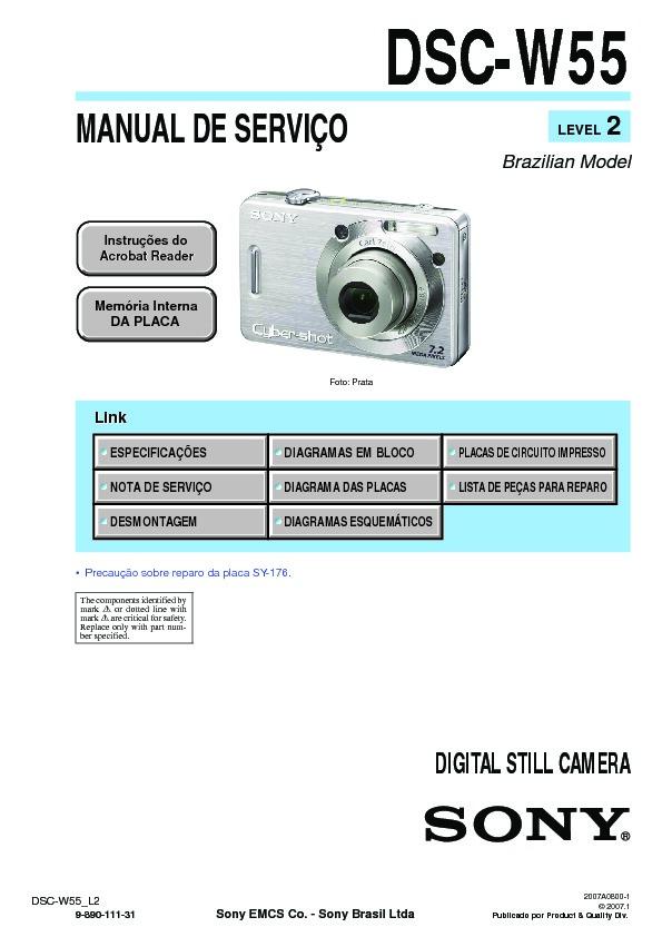 sony dsc w55 serv man14 service manual free download rh servicemanuals us sony cyber shot dsc-w35/w55 manual sony dsc-w55 service manual