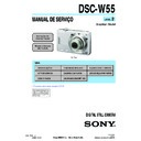 Sony DSC-W55 (serv.man14) Service Manual