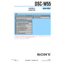 Sony DSC-W55 (serv.man15) Service Manual