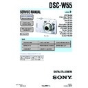 Sony DSC-W55 (serv.man2) Service Manual