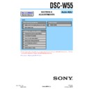 Sony DSC-W55 (serv.man4) Service Manual