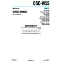 Sony DSC-W55 (serv.man6) Service Manual