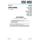 Sony DSC-W55 (serv.man9) Service Manual