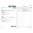 Sony DSC-W550 (serv.man3) Service Manual