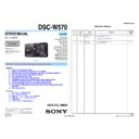 Sony DSC-W570 (serv.man2) Service Manual