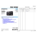 Sony DSC-W580 (serv.man2) Service Manual