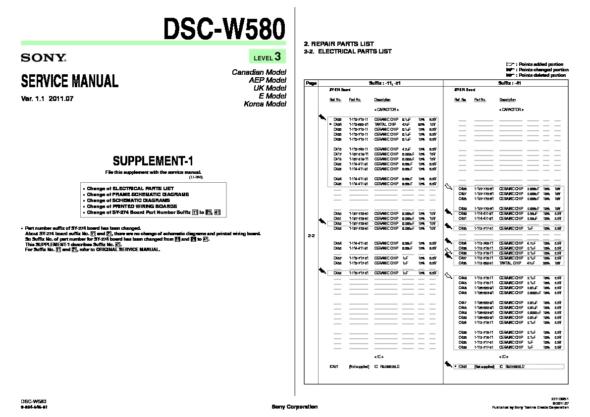 Sony Dsc W580 Service Manual Free Download 551 Wiring Diagram Servman4