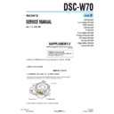 Sony DSC-W70 (serv.man10) Service Manual