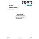 Sony DSC-W70 (serv.man11) Service Manual