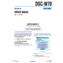 Sony DSC-W70 (serv.man12) Service Manual