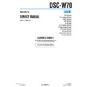 Sony DSC-W70 (serv.man13) Service Manual