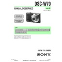 Sony DSC-W70 (serv.man14) Service Manual