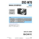 Sony DSC-W70 (serv.man15) Service Manual