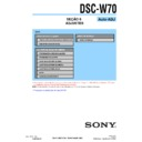 Sony DSC-W70 (serv.man16) Service Manual