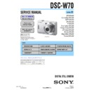 Sony DSC-W70 (serv.man2) Service Manual
