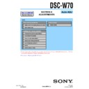 Sony DSC-W70 (serv.man4) Service Manual