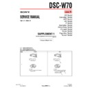Sony DSC-W70 (serv.man5) Service Manual