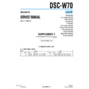 Sony DSC-W70 (serv.man6) Service Manual
